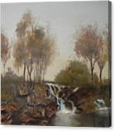 Foggy Creek Canvas Print