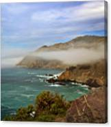 Foggy Day At Big Sur Canvas Print