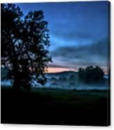 Foggy Evening In Vermont - Landscape Canvas Print