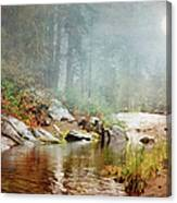 Foggy Fishin Hole Canvas Print