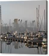 Foggy Marina Morning 2 Canvas Print