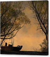 Foggy Morning Fishing Boat Canvas Print