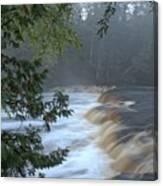 Foggy Morning On Lower Tahquamenon Falls Canvas Print