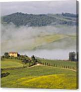 Foggy Morning Sunrise Canvas Print