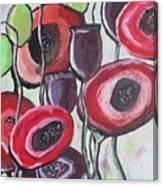 Foggy Poppy Canvas Print