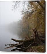 Foggy River Bank Canvas Print