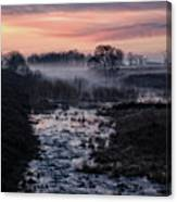 Foggy Sunrise At Chasewater Canvas Print