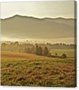 Foggy Valley Canvas Print
