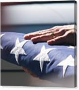 Folded American Flag Canvas Print