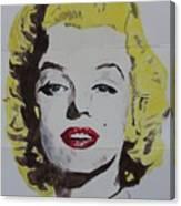 Folded Marilyn Canvas Print