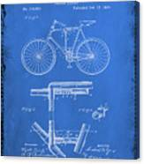 Folding Bycycle Patent Drawing 1d Canvas Print