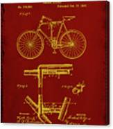 Folding Bycycle Patent Drawing 1f Canvas Print