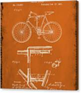 Folding Bycycle Patent Drawing 1g Canvas Print