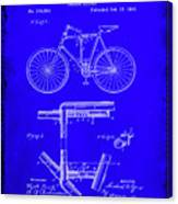 Folding Bycycle Patent Drawing 1h Canvas Print
