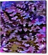 Foliage Abstract In Blue, Pink And Sienna Canvas Print