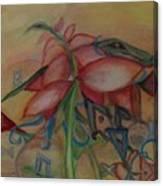 Foliage And Ornaments Canvas Print