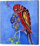 Folk Art Bird Canvas Print