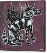 Dog House Folk Art Canvas Print