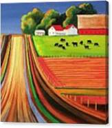 Folk Art Farm Canvas Print
