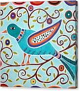 Folk Bird Canvas Print