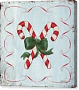 Folk Candy Cane Canvas Print