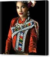 Folk Dancer Of The North East Canvas Print