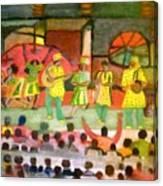 Folk Play Canvas Print