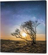 Folly Beach Milky Way Panorama Canvas Print