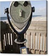Folly Beach Pay Binoculars Canvas Print
