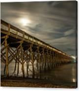 Folly Beach Pier At Full Moon Canvas Print