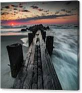 Folly Beach Tale Of Two Sides Canvas Print