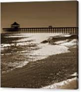 Folly Pier Sunset Canvas Print