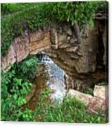 Fonferek Glen Rock Bridge And Falls Canvas Print