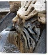 Fontana Della Barcaccia Sun Canvas Print