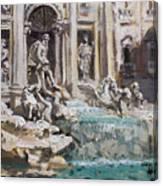 Fontana Di Trevi Rome Canvas Print