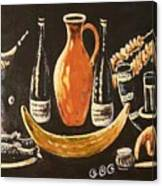 Food And Wine Canvas Print