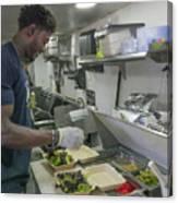 Food Truck Worker Canvas Print