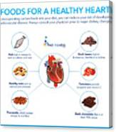 Foods For A Healthy Heart Canvas Print