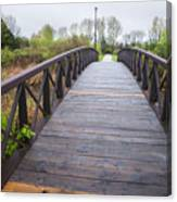 Foot Bridge In Park Canvas Print