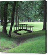 Foot Bridge In The Park Canvas Print
