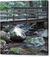 Foot Bridge Over Notch Brook Canvas Print