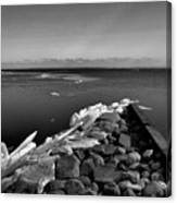 Foot Of 9th Line South Bw  Canvas Print