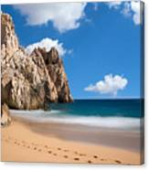 Foot Prints In Cabo Canvas Print