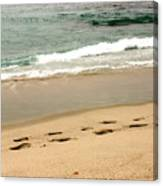 Foot Prints In The Sand.jpg Canvas Print