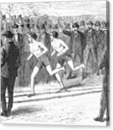 Foot Race, 1868 Canvas Print