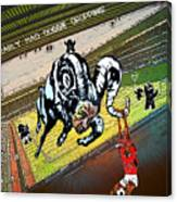 Football Derby Rams Against Nottingham Forest Red Dogs Canvas Print