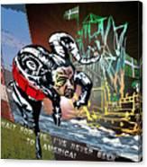 Football Derby Rams Against Plymouth Pilgrims Canvas Print