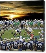 Football Field-notre Dame-navy Canvas Print