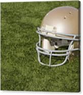 Football Helmet On Artificial Turf Canvas Print