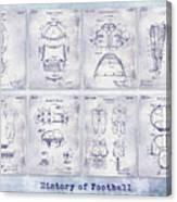 Football Patent History Blueprint Canvas Print